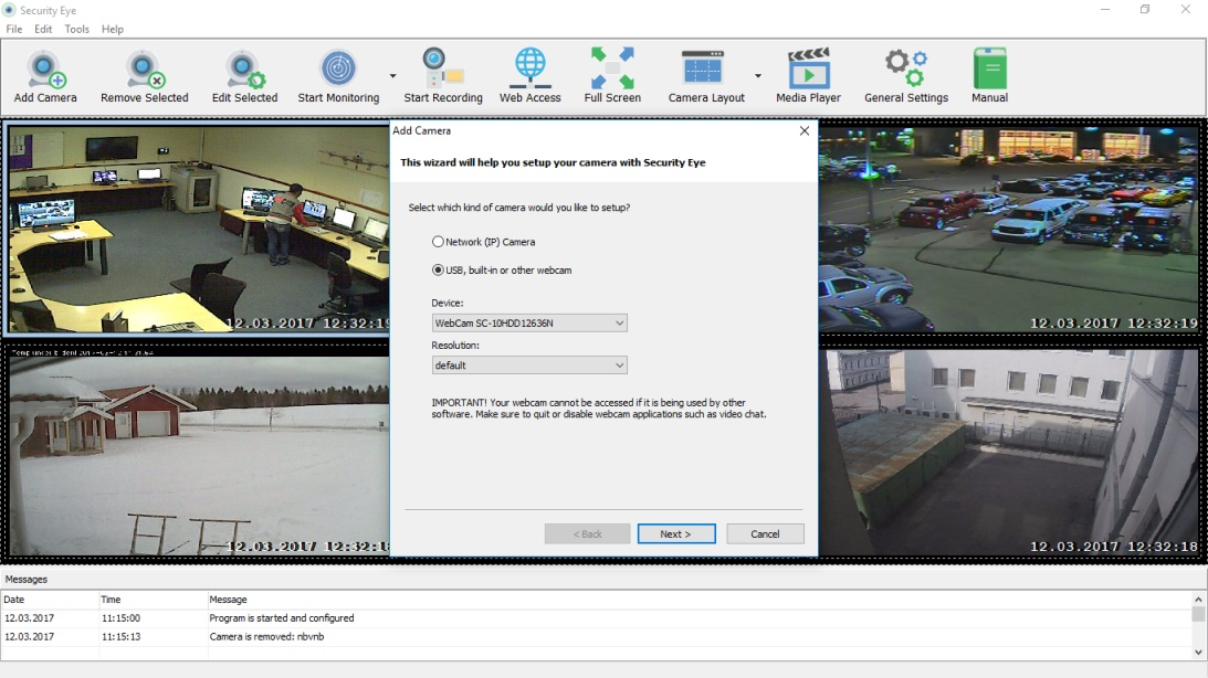 Security Eye - Video Monitoring Software for Windows